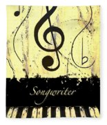 Songwriter - Yellow Fleece Blanket