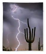 Sonoran Desert Monsoon Storming Fleece Blanket