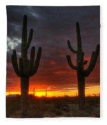 Sonoran Desert Sunrise 1 Fleece Blanket