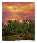 Sonoran Desert Sunset Op46 Fleece Blanket