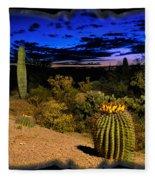 Sonoran Twilight Fleece Blanket