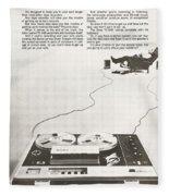 Sony Vintage Advert Fleece Blanket