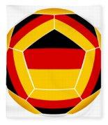 Soocer Ball With Germany Flag Fleece Blanket
