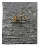 Soren Larsen Tall Ship Enters Sydney Harbour Fleece Blanket