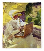 Sorolla: Painter, 1907 Fleece Blanket