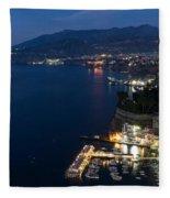 Sorrento Bay At Night Fleece Blanket