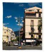 Sorrento Italy Piazza Fleece Blanket