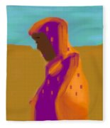 Sorrowful Mother Of The Past And Present Fleece Blanket