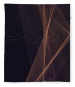Soul Computer Graphic Line Pattern Fleece Blanket
