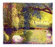 Swans, Soul Mates Fleece Blanket