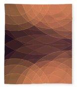 Soul Semi Circle Background Horizontal Fleece Blanket