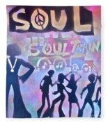 Soul Train 1 Fleece Blanket