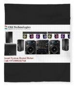 Sound System Rental Dubai - Rent,lease,hire Sound System Dubai Fleece Blanket