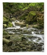 Sounds Of A Mountain Stream Fleece Blanket