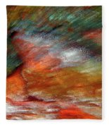 Sounds Of Thunder Abstract Fleece Blanket