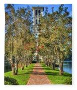 Sounds Of Victory The Bell Tower Furman University Greenville South Carolina Art Fleece Blanket