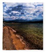South Beach At Priest Lake Fleece Blanket