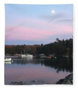 South Bristol Sunset Fleece Blanket
