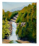 South Carolina Waterfall Fleece Blanket