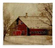 South Dakota Barn Fleece Blanket