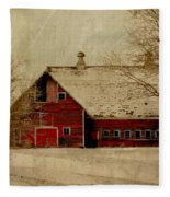 South Dakota Barn Fleece Blanket