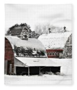 South Dakota Farm Fleece Blanket