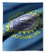South Dakota State Flag Fleece Blanket