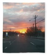 South End Sun Rise Fleece Blanket