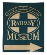 South Florida Railway Museum Fleece Blanket
