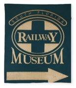 South Florida Railway Museum Fleece Blanket