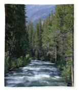 South Fork San Joaquin River - Kings Canyon National Park Fleece Blanket