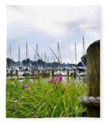 South Haven Marina Fleece Blanket