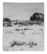 South Hessary Tor In The Snow Fleece Blanket