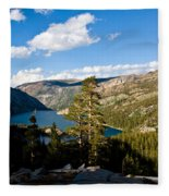 South Lake From Above Fleece Blanket