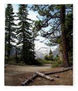 South Lake Tahoe Mountain Trail Fleece Blanket
