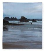 South Of Indian Beach Fleece Blanket