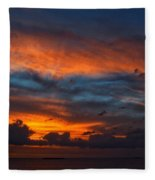 South Pacific Sunset Fleece Blanket
