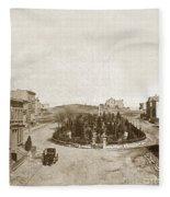 South Park San Francisco Circa 1870 Fleece Blanket