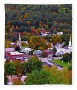 South Royalton Vermont Fleece Blanket