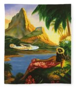 South Sea Isles Fleece Blanket