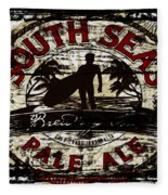 South Seas Pale Ale Sign Fleece Blanket