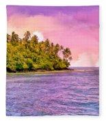 South Seas Sunset Fleece Blanket