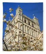 South Tower Exeter Cathedral Fleece Blanket