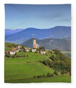 South Tyrolean Panorama Above Bolzano. Fleece Blanket