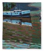 Southampton And Scubbys Bluff Fishing Fleet Fleece Blanket