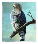Southern Banded Snake Eagle Fleece Blanket