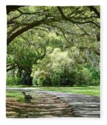 Southern Bench Fleece Blanket