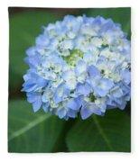 Southern Blue Hydrangea Blooming Fleece Blanket