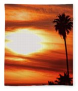 Southern California Sunset Fleece Blanket