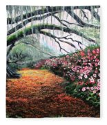 Southern Charm Oak And Azalea Fleece Blanket